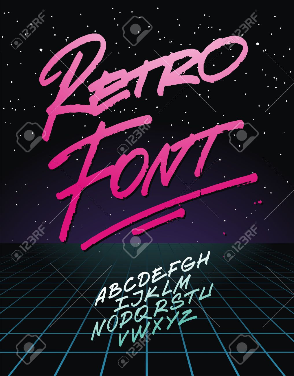 Image result for miami font | ·design· | Retro font, Light grid
