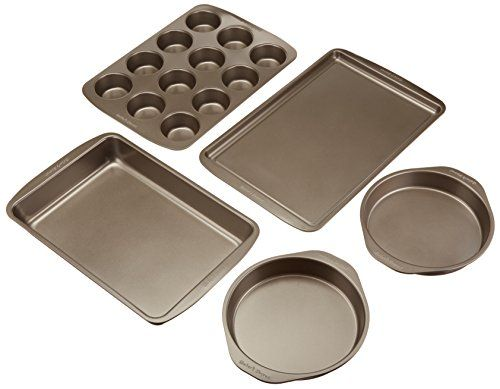 Bakers Secret 5piece Easy Store Bakeware Set Non Stick To View