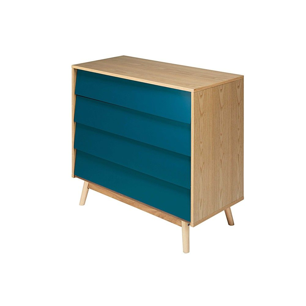 Commode Bleue Maison Du Monde Commode Vintage 4 Tiroirs Bleu Pétrole Côté Maison Chest Of