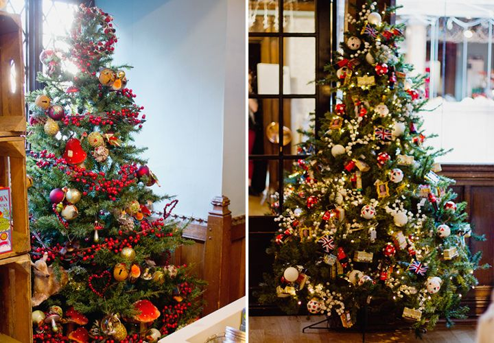 Finished Christmas Trees At Liberty Shop London Decorations Holiday Decor Christmas Tree Woodland Christmas