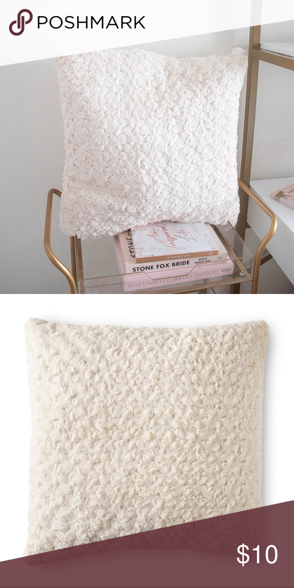 Cream Textured Throw Pillow New with tags (in plastic)! Cream/off white Textured Throw