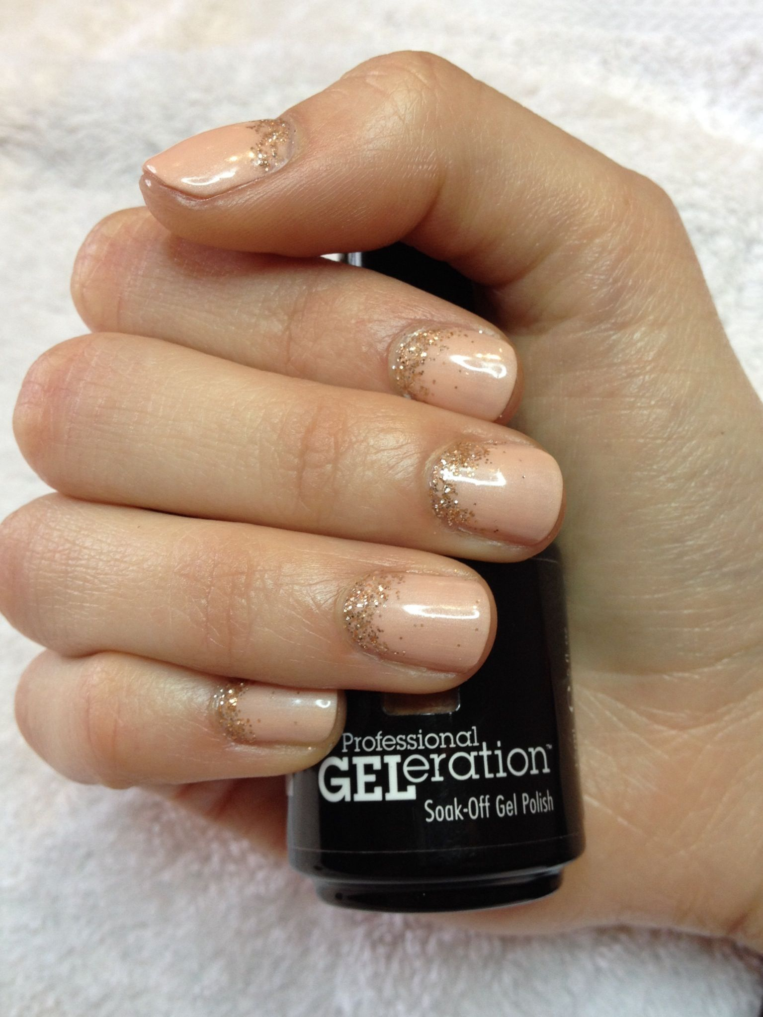 Jessica GELeration gel in Peaches \'n\' Creme with a little extra ...