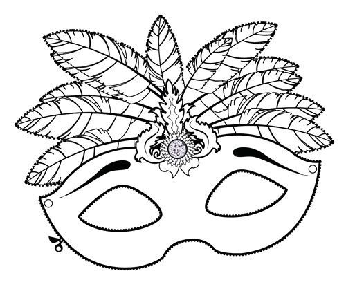 Coloriage Magique Carnaval.Mascara Antifaz Fantasia Deguisement Bresil Coloriage