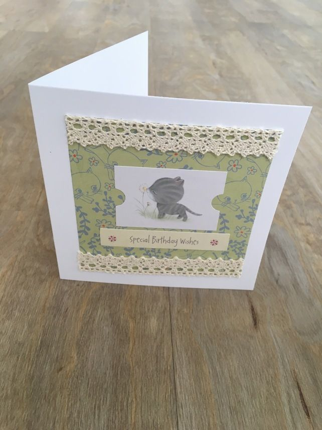 Birthday Card Cat £3.50