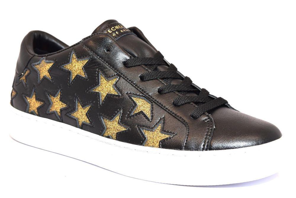 SKECHERS 73535 BKGD NERO ORO 40 Stelle Sneakers Scarpe ...