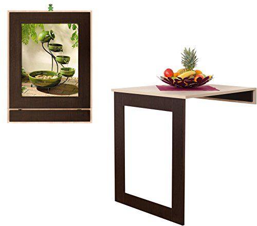 Amazon De Eleganter Klapptisch Karina Wandtisch Kuchentisch Esstisch 80x66cm Wird Zu Einem Klapptisch Wandtisch Klapptisch Esstisch