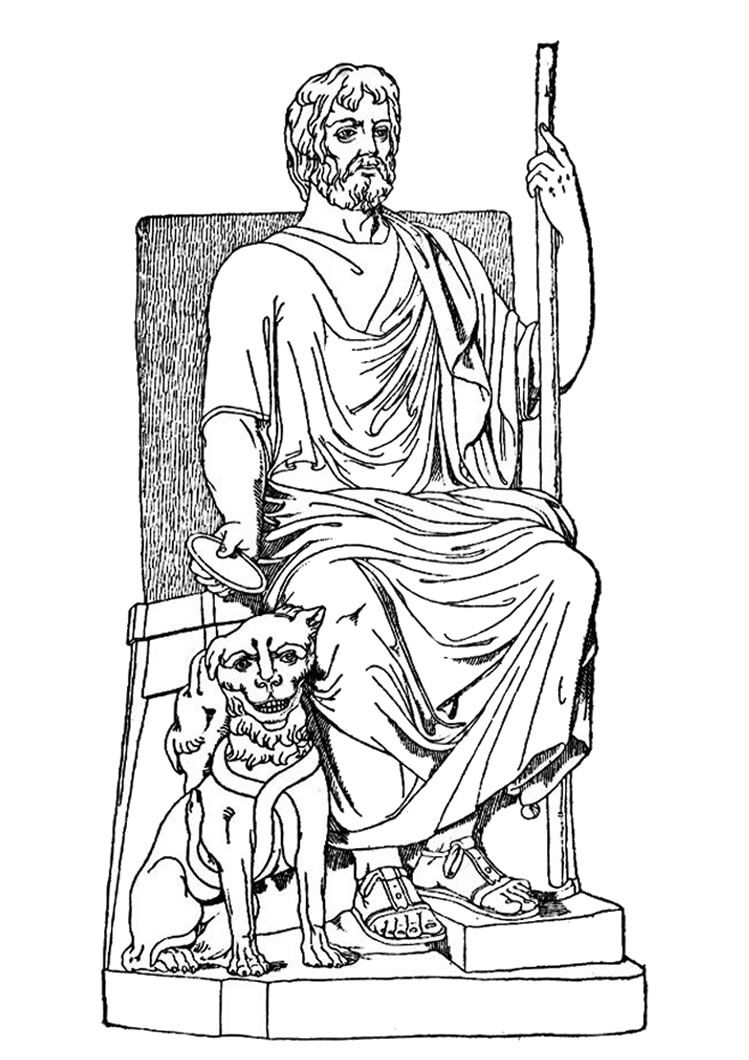 Coloring pages greek mythology - Greek Gods Coloring Pages God Hades