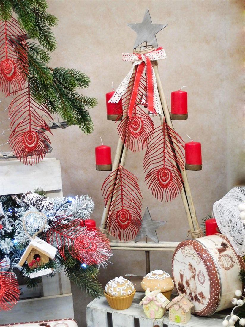 Alberino di natale in legno stilizzato portacandele idee for Festoni natalizi fai da te