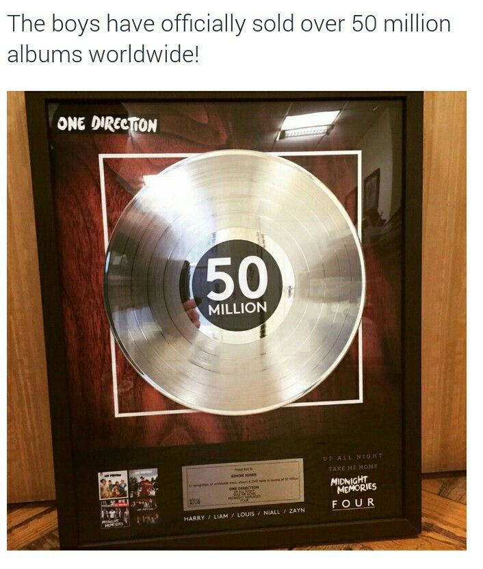 Congratulations my babies!!! One Direction officially sold more than 50 million albums!!