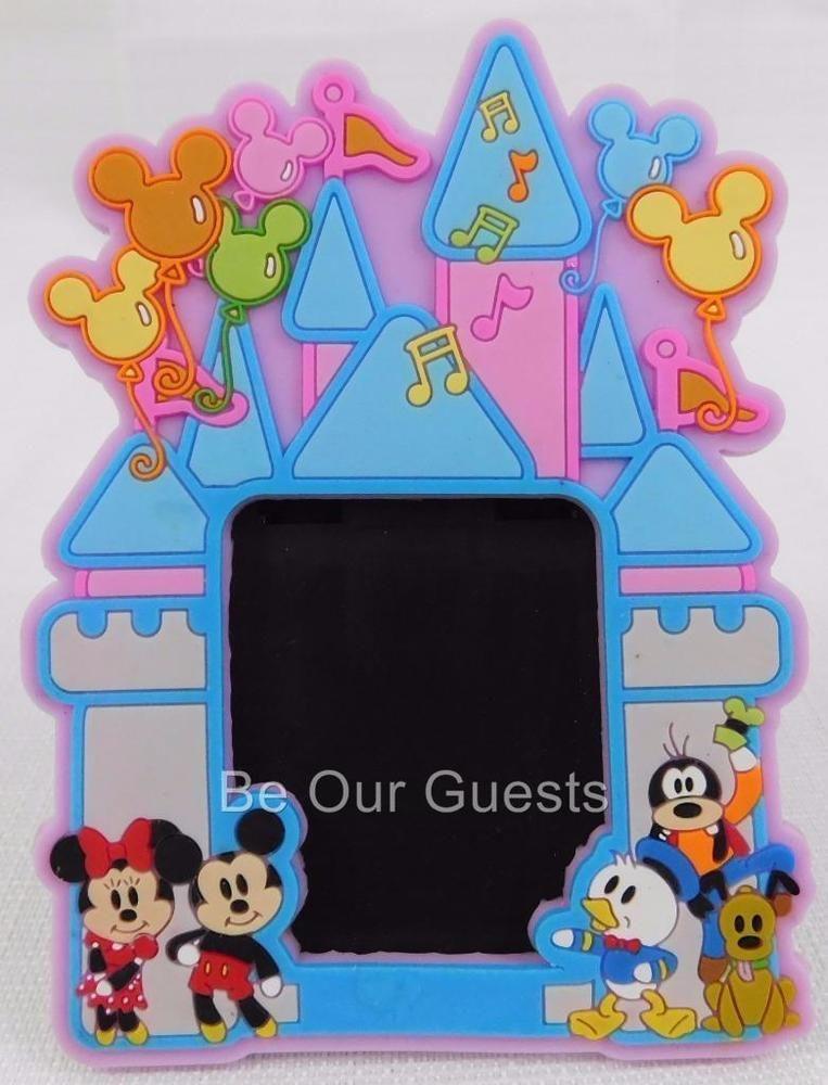 Walt Disney World Mickey & Friends Cartoon Castle 2x2 Magnet Frame ...