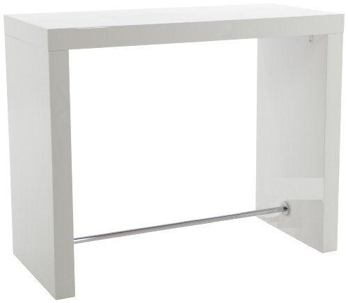 AC Design Furniture H000011675 Bartisch Christian, weiß hochglanz - bartische für küche