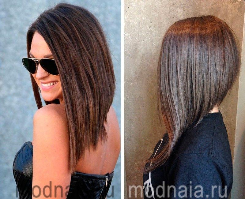 модные стрижки 2017 на средние волосы удлиненный боб ...