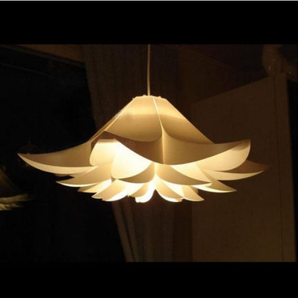 Modern contemporary white floral pendant pp shade ceiling light lamp fixture 28