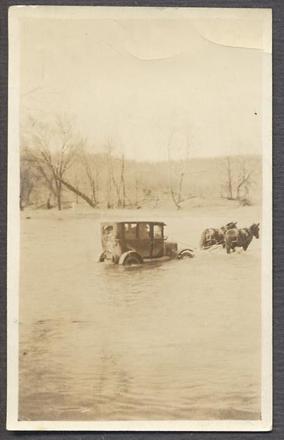 Model T Ford Forum: Old Photo - Two Horse Power Fording