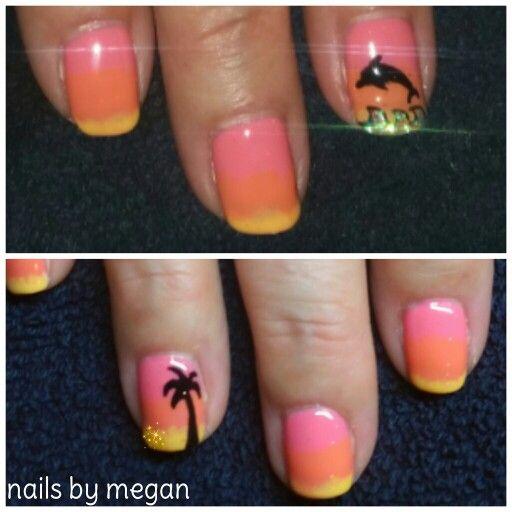 Beach themed nail art pain tree dolphin las vegas nails by beach themed nail art pain tree dolphin las vegas nails by megan barre prinsesfo Choice Image