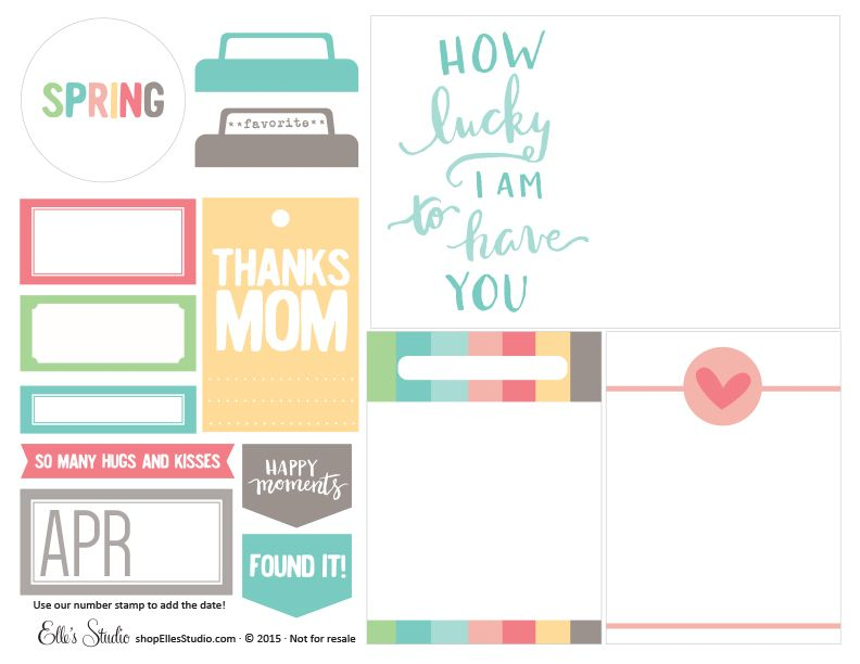 How Lucky Printables - perfect for spring and Mother's Day projects!
