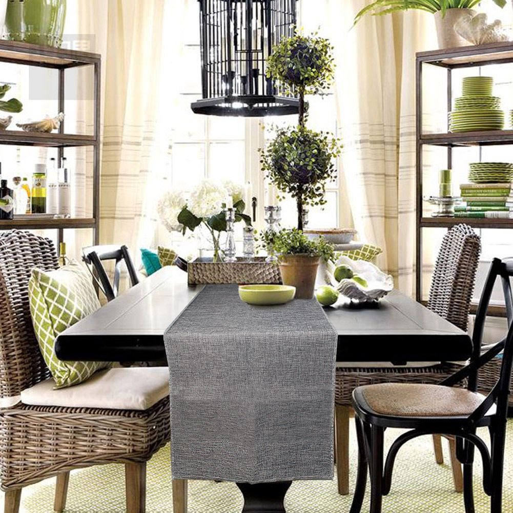 5 89 european style imitated linen burlap table runner wedding rh pinterest ch