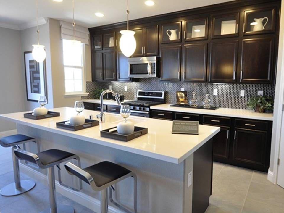 My new kitchen! | Home kitchens, Tall kitchen cabinets ...