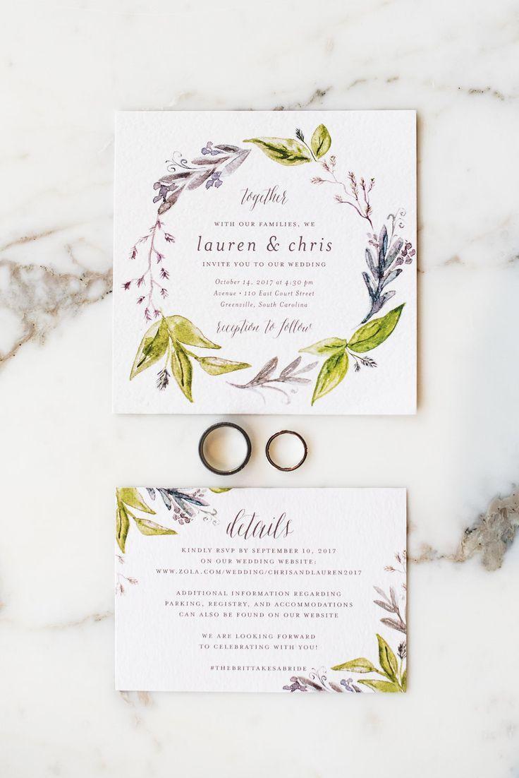 Lauren + Chris: Polished Modern Wedding in Downtown Greenville ...