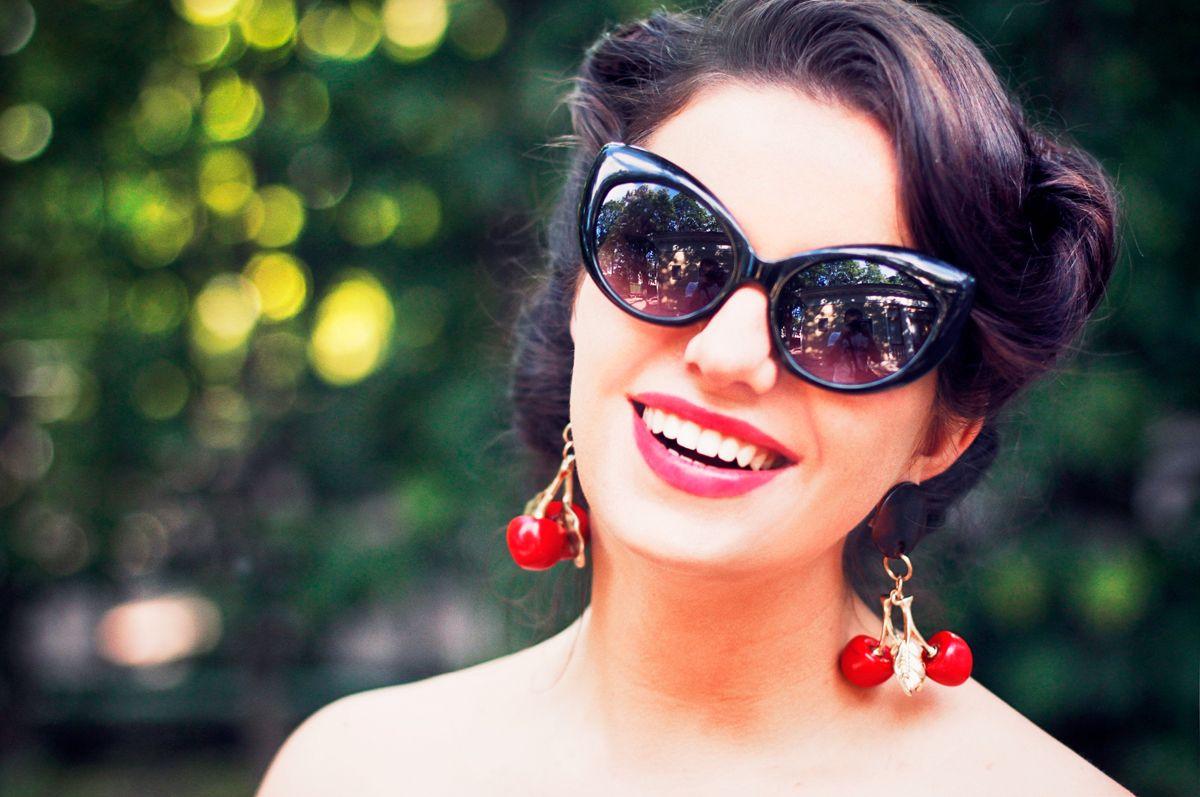 La Vita Mia Cherries & tomatoes Cherry earrings, Cat