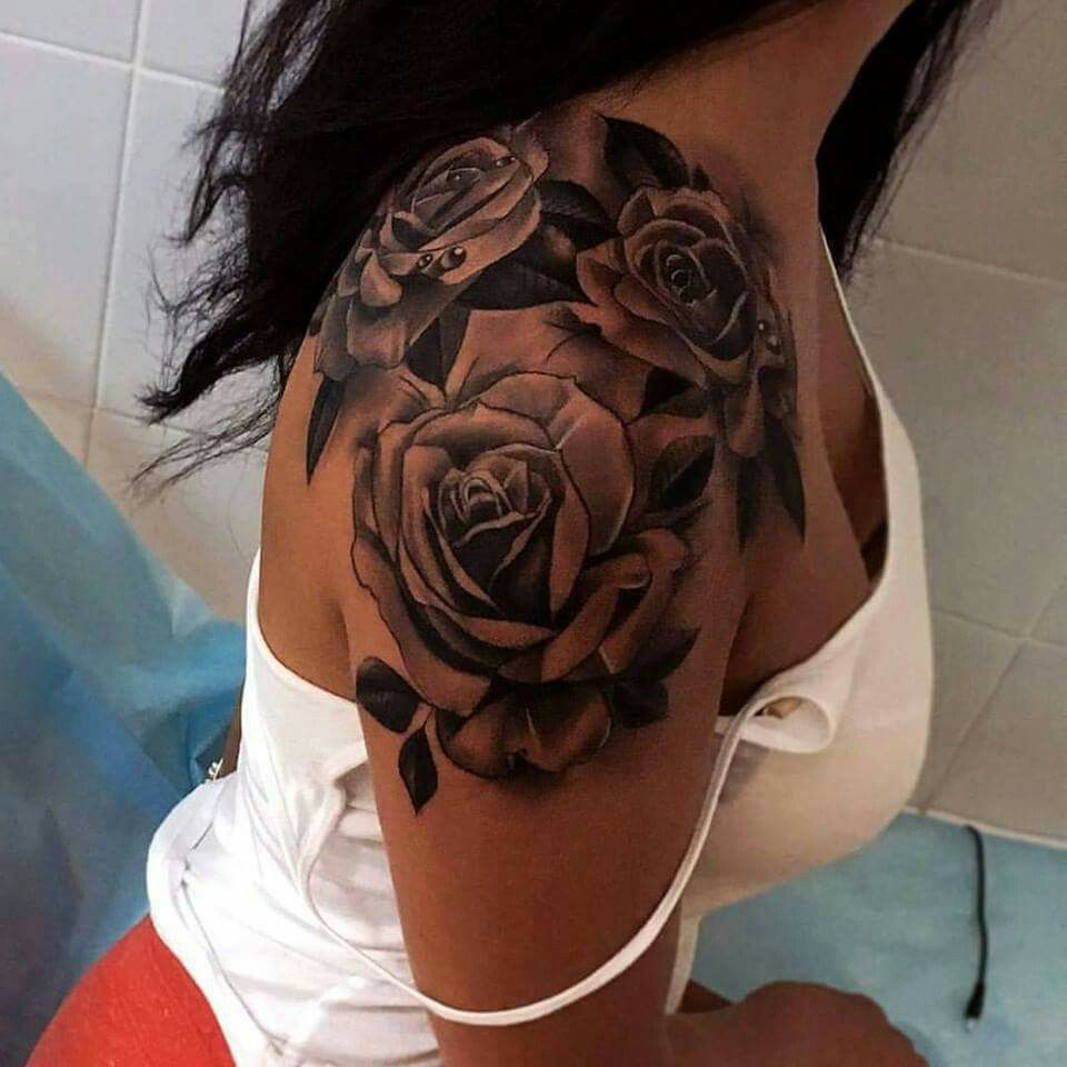 Stunning Tattoos Cool Tattoos For Girls Rose Shoulder Tattoo