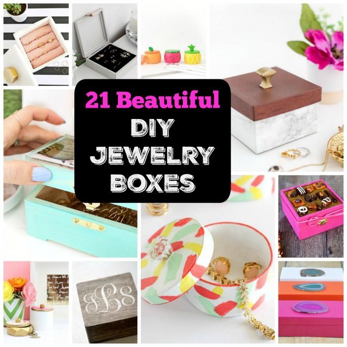 21 Beautiful Functional Diy Jewelry Boxes Cool Crafts Diy Crafts Jewelry Box Jewelry Box Diy Diy Crafts Jewelry