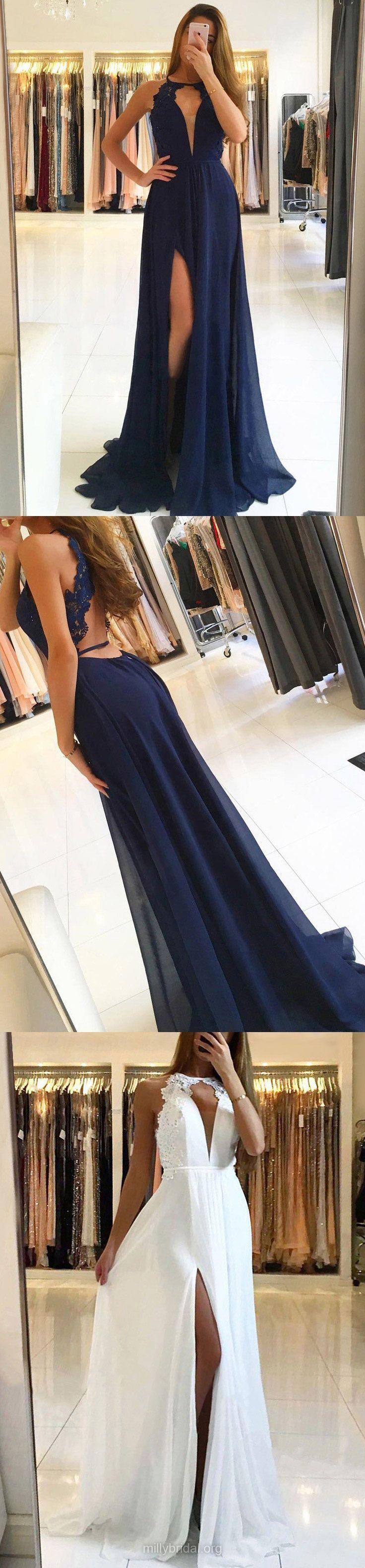Navy blue prom dresses long prom dresses lace prom dresses