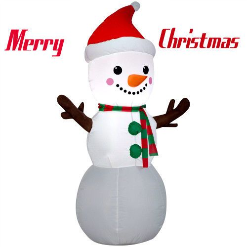4Ft Inflatable Snowman Lighted Figure Indoor Outdoor Christmas - inflatable outdoor christmas decorations