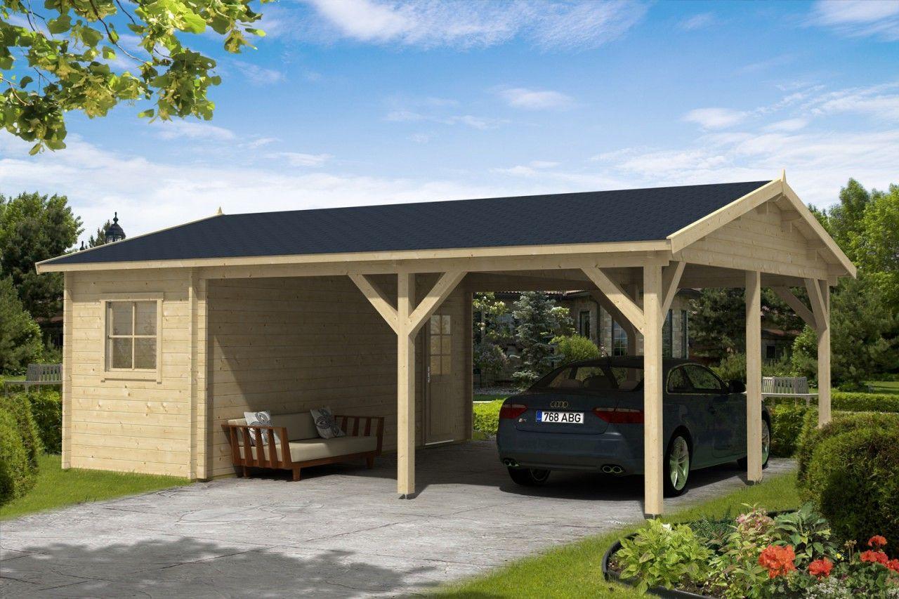 Holzgarage Modell Riva 44 Holzgarage Carport Gartenhaus