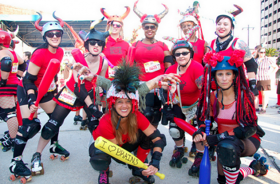 "running of the bulls new orleans | The ""bulls"" get ready to take on the runners in New Orleans. Image ..."
