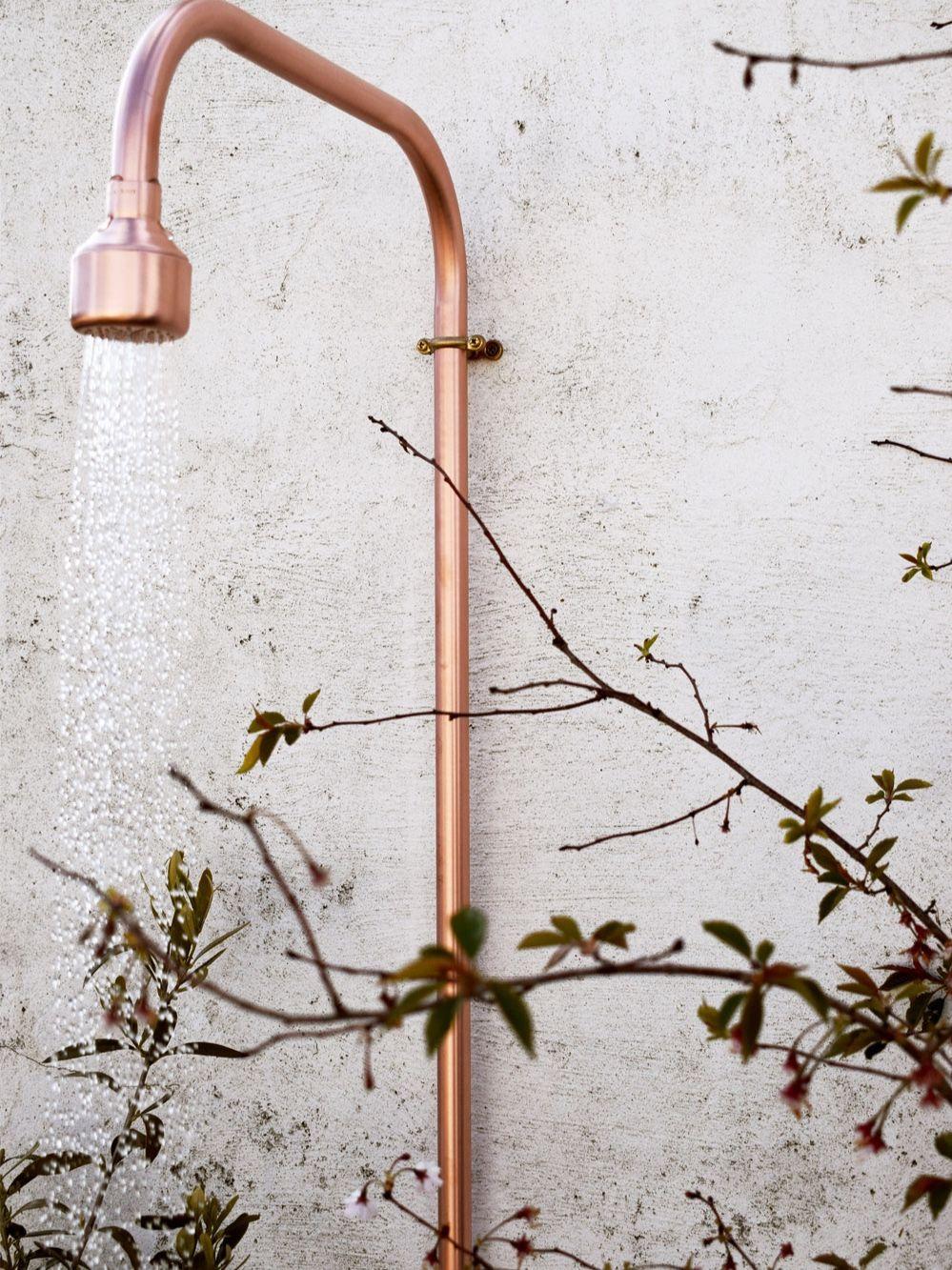 Outdoor Shower Proper Copper Design Outdoor Shower Copper Design Outside Showers