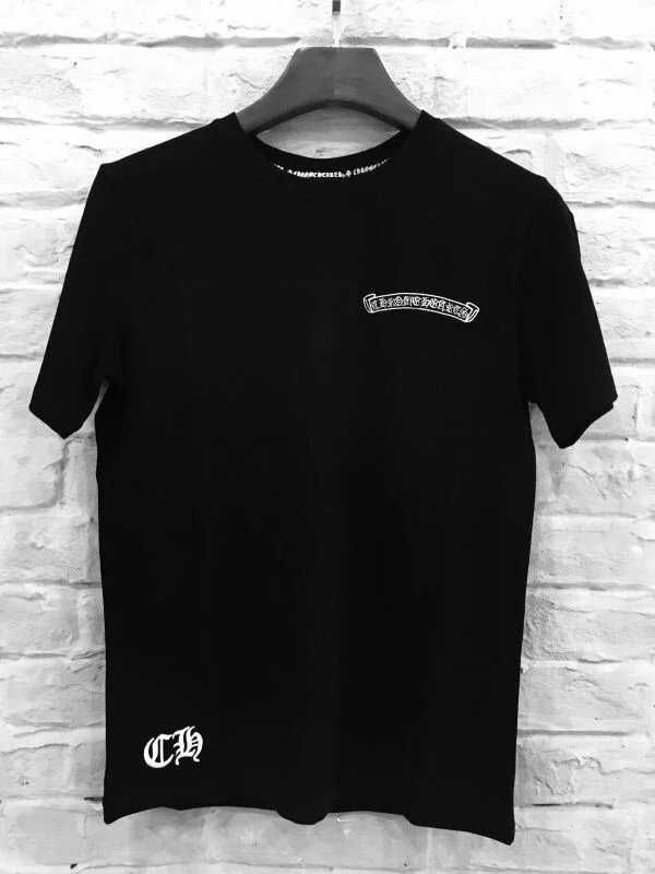 213a3d762 2017 Short Sleeves Chrome Hearts Black T-Shirt with Leather Cross ...