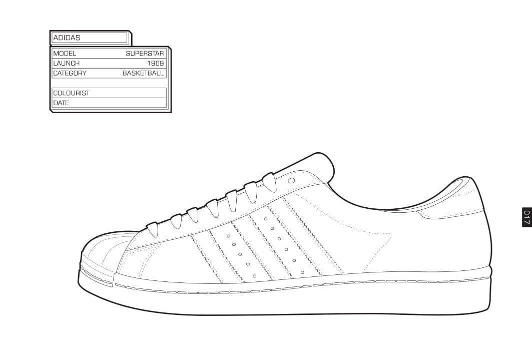 Sneaker Coloring Book Sneakers Sketch Shoe Design Sketches Sneakers