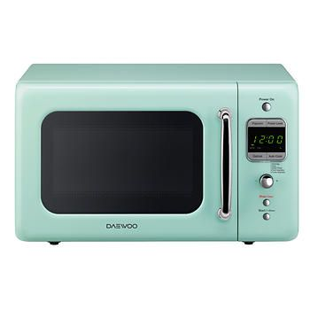 Daewoo Retro 0 7 Cu Ft 700w Microwave Mint Green Kitchen