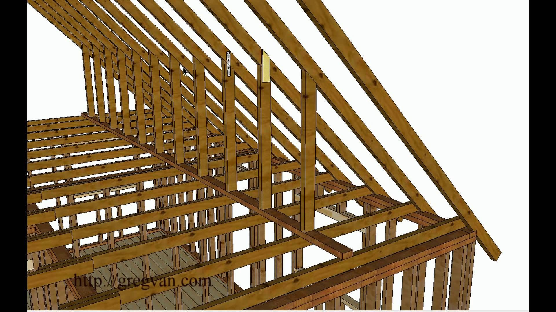 Using Walls Instead Of Purlin Braces To Support Roof Rafters Attic Remodeling Tips Garage Office Design Ideas Roof Design Building Roof Loft Conversion Roof