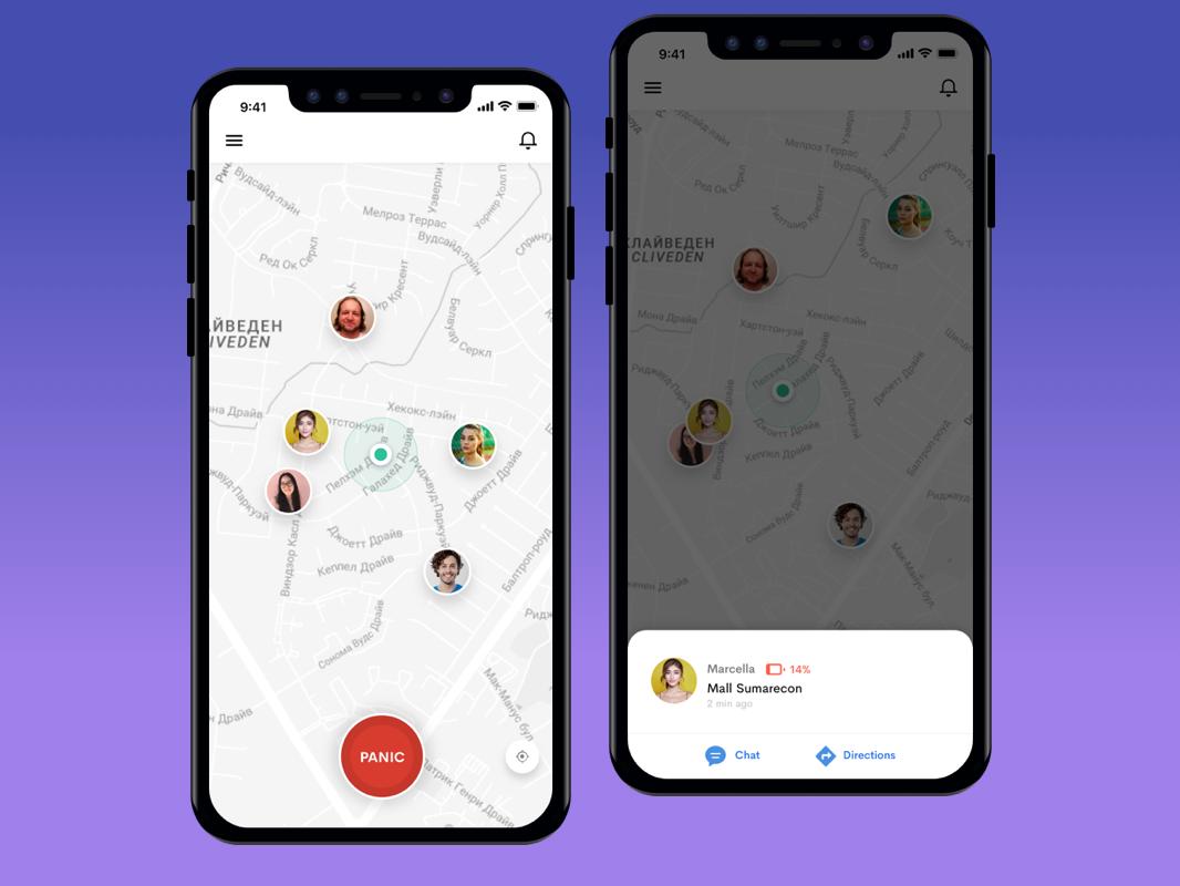 Location Sharing App Panic Button App App Design Panic Button