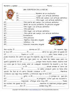mad libs for comprehensible input curriculum español pinterest