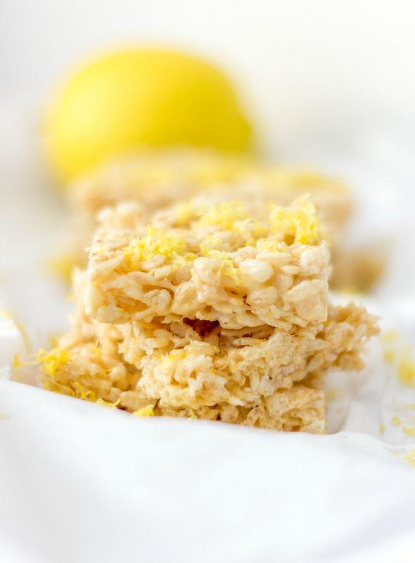 Lemonade Rice Krispies Treats - Around My Family Table