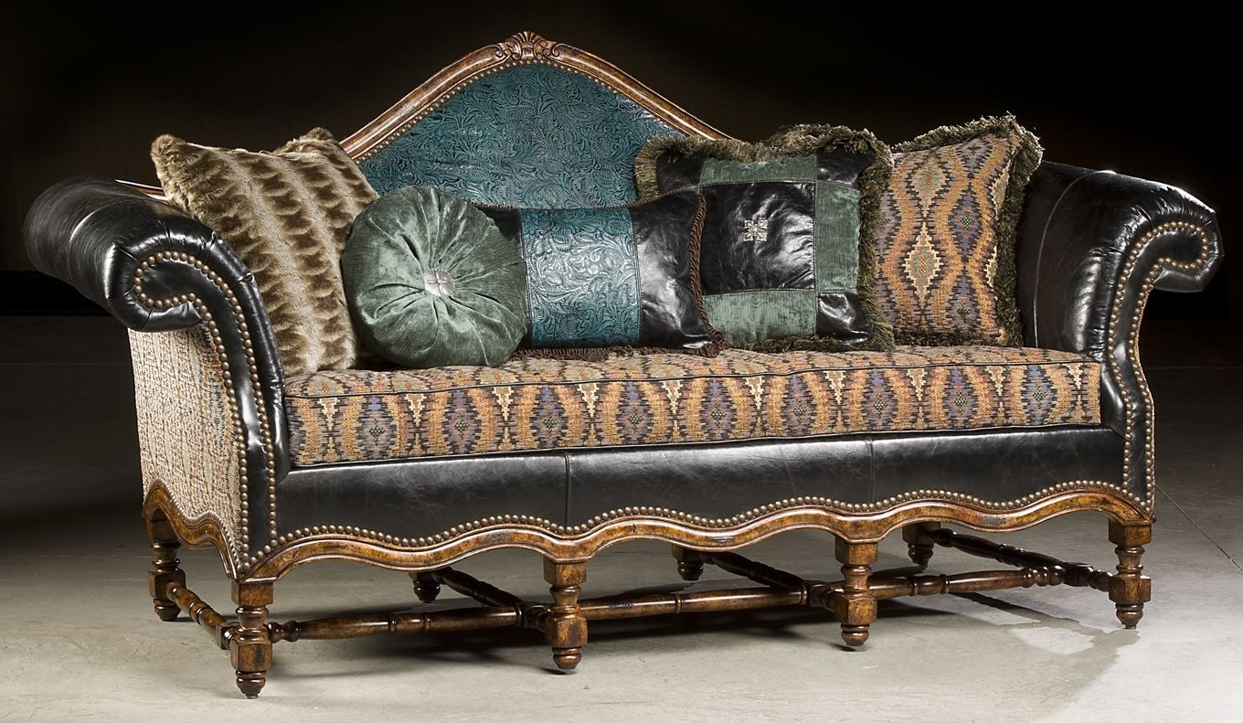 High Style Furniture Tooled Leather Sofa. Luxury Fine Home Furnishings And  High Quality Furniture For
