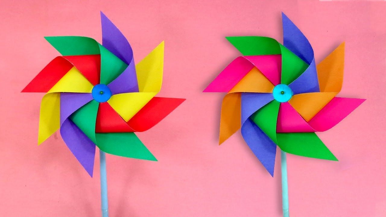 summer paper windmill
