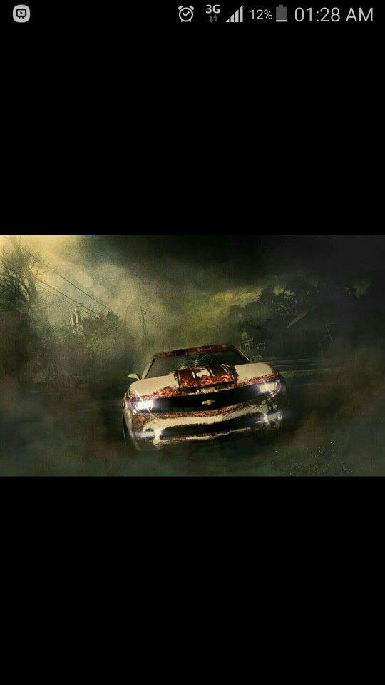 #car #3D #illustration #kamaro #post apocalyptic #maya #photoshop