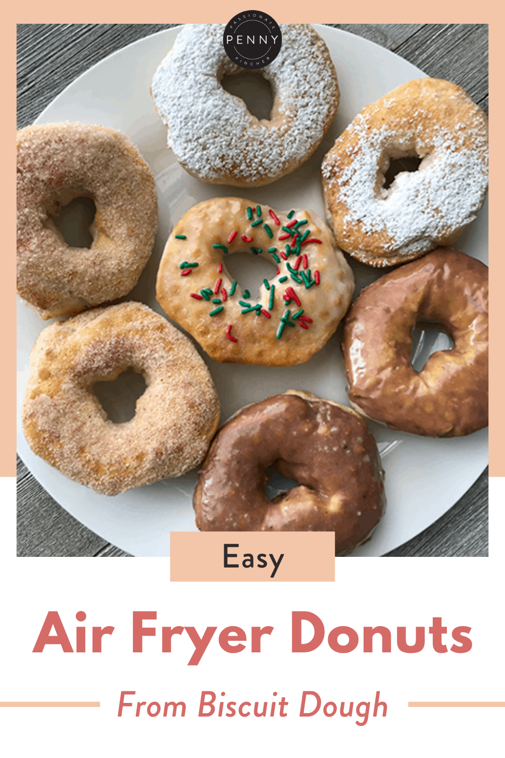 EASY Air Fryer Donuts from Biscuit Dough! (4 Kinds) in