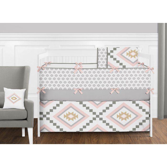 Aztec 9 Piece Crib Bedding Set Crib Bedding Girl Crib Bedding Sets Baby Girl Crib Bedding