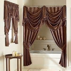 Double Swag Shower Curtains Luxury Shower Curtain Luxury