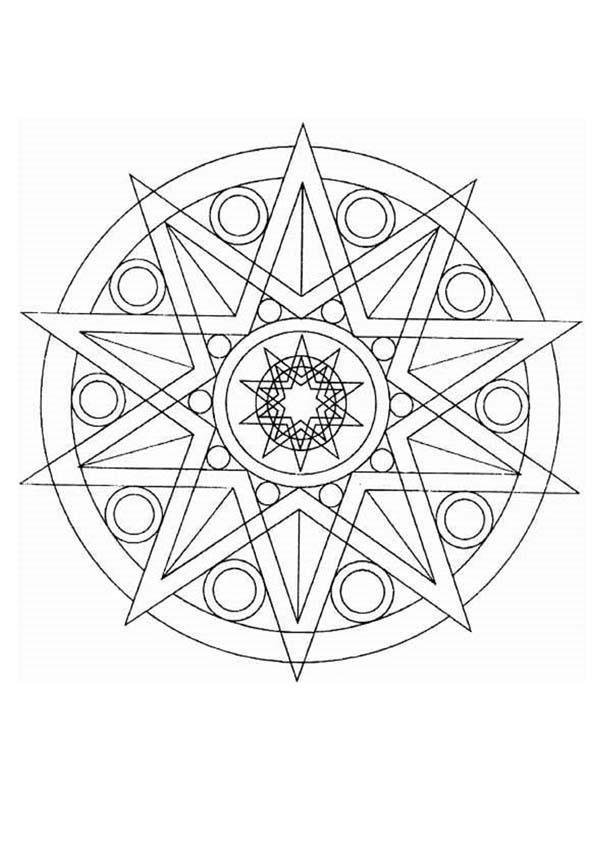 Mandalas para NOVATOS - Colorindo lindas estrelas | mandalas ...