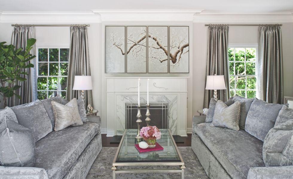 Ein Traum in Grau - farblich abgestimmte Vorhänge und Garnitur in - vorhange wohnzimmer grau