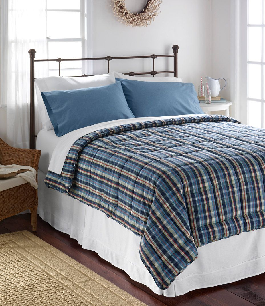 L L Bean Ultrasoft Cotton Comforter Plaid Cotton Comforters