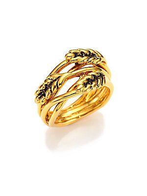 Aurélie Bidermann Wheat Ring/Goldtone
