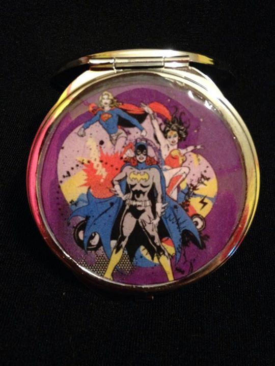 DC Heroines compact mirror by Airship67 $15 https://www.etsy.com/listing/216392610/dc-girls-compact-mirror-your-choice-of?ref=shop_home_active_18