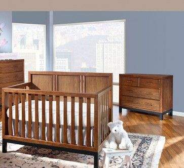 Westwood Park West 2 Piece Nursery Set In Walnut Crib And Combo Best Baby Cribs Convertible Crib Cribs